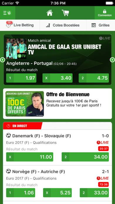 screen unibet