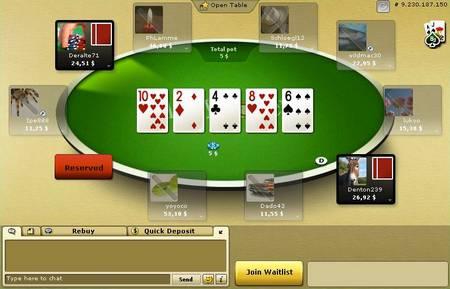Une table Party Poker vs PokerStars