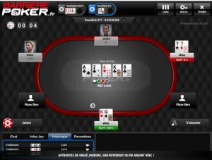 Barrière Poker iPad