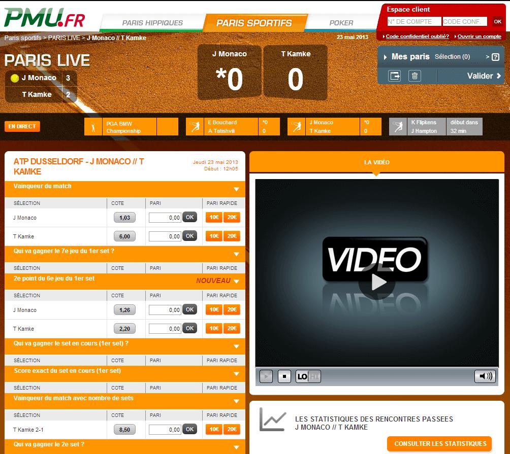 Streaming Légal chez PMU