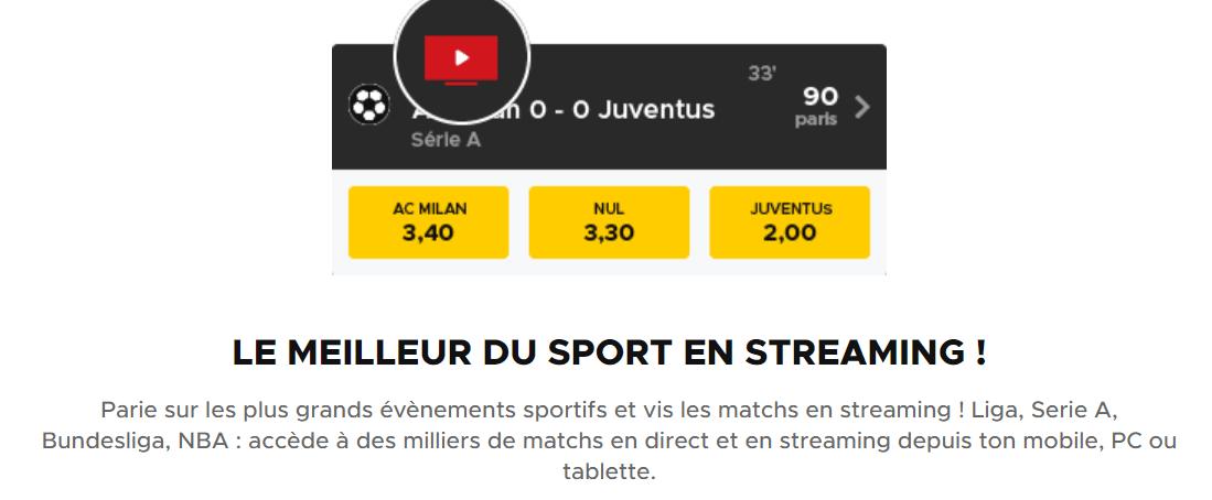 Matchs en streaming gratuit