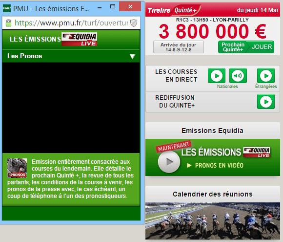 pmu live direct1 Suivre le Quinté en direct : courses du jour et quinté+ en live