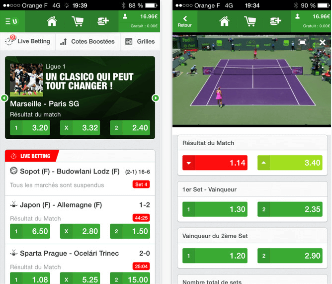 Application Unibet Sports