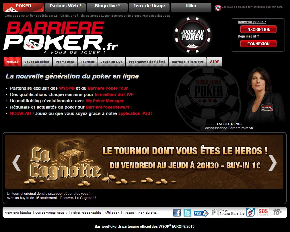 home de barrière poker