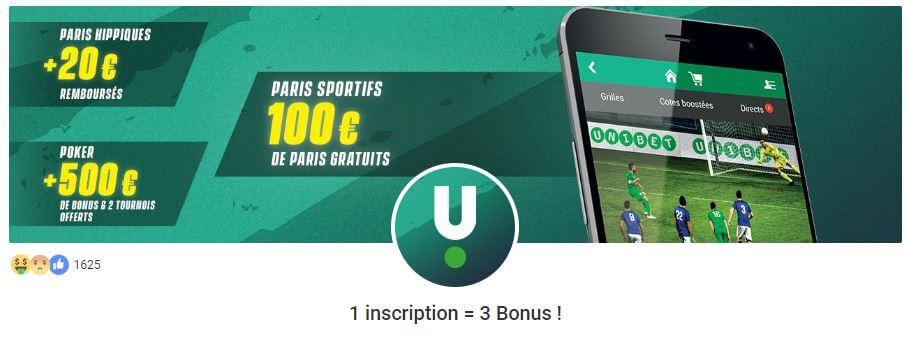 unibet bonus paris sportifs