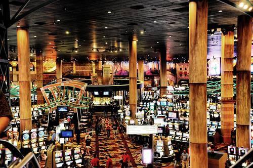 Intérieur d'un casino de Vegas