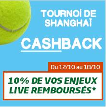 Tournoi de Shangaï PMU Cashback