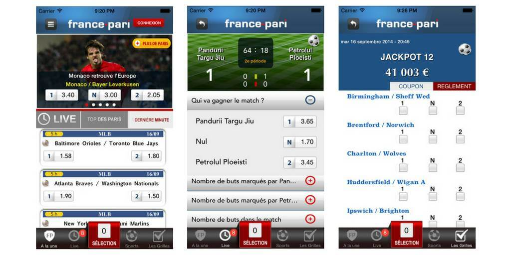 Application France Pari