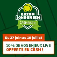 Gzazon londonien cashback : 10% de vos enjeux live offerts en cash