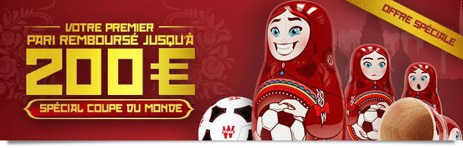 bonus Winamax Coupe du monde
