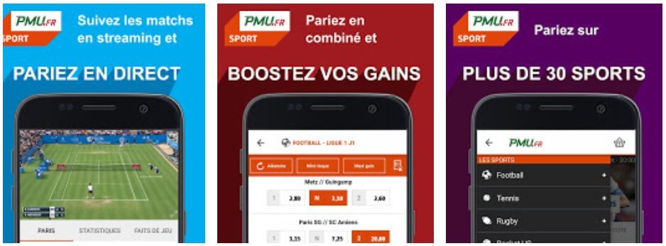 Application PMU sur Android