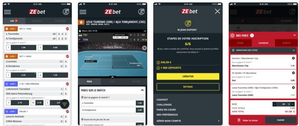 zebet appli mobile