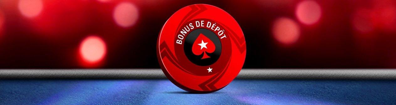 Empochez jusqu'à 500€ de bonus PokerStars