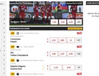 Winamax paris sportifs : jusqu'à 600 € offerts à l'ouverture de votre compte