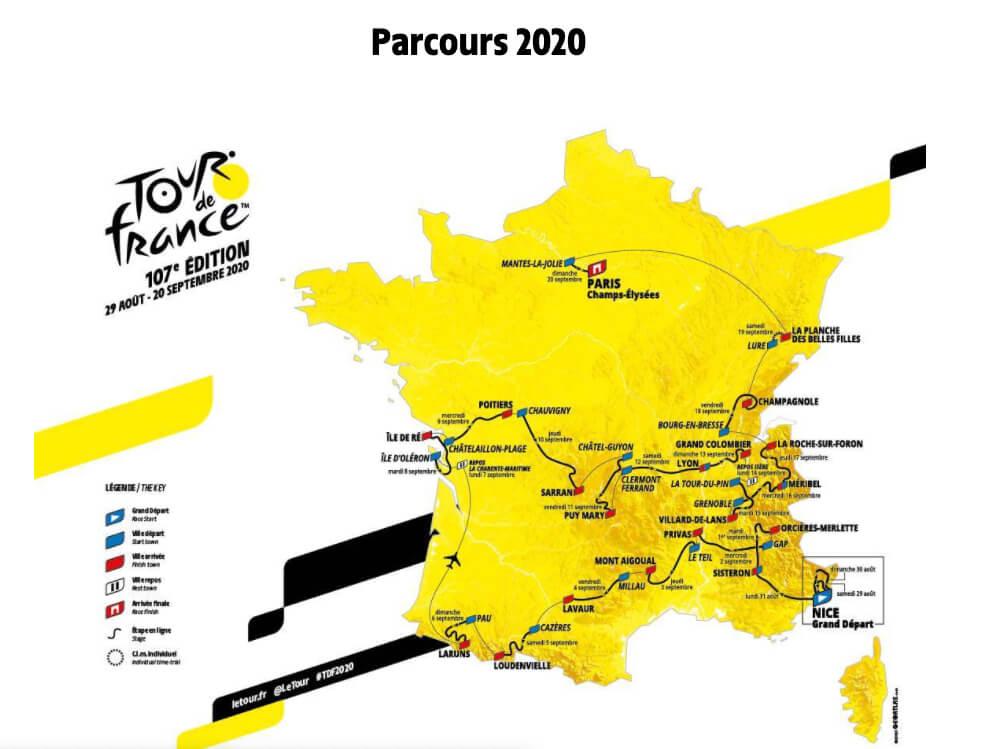 Tracé du Tour 2020