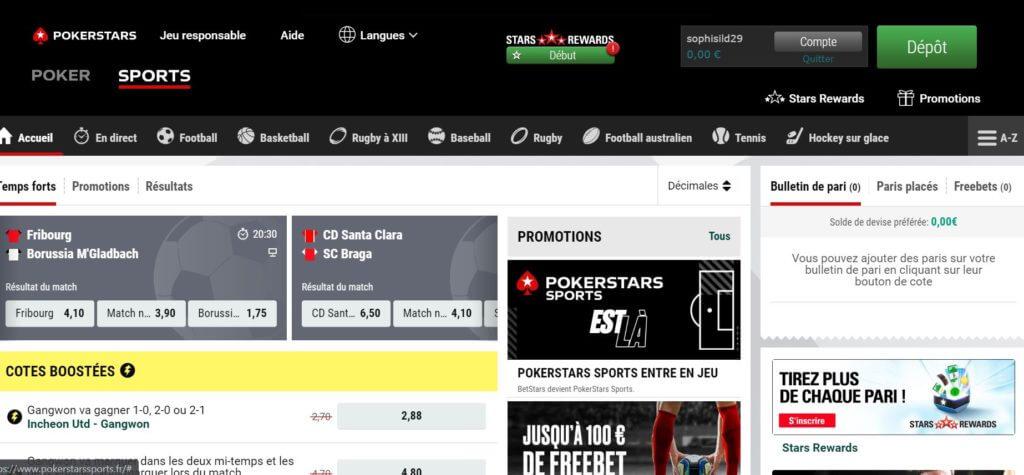 code promo pokerstars sports