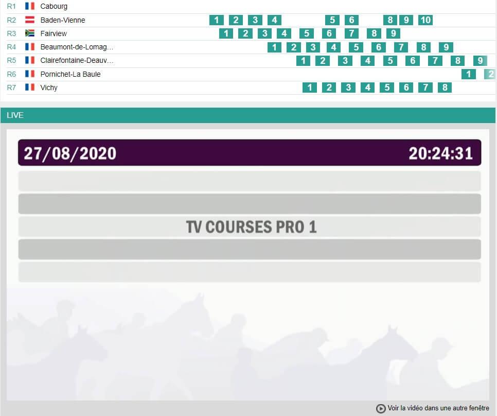 Courses hippiques en direct