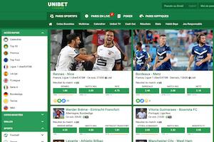 Unibet football : offre de paris, bonus à l'inscription, formules de jeu, TV en direct, appli mobile…